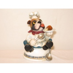 Купить Копилка Shantou Gepai «Собака-повар с тарелкой»