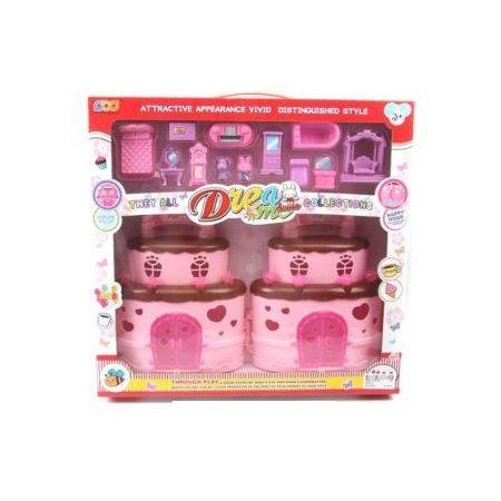 Купить Домик кукольный Shantou Gepai с мебелью «Торт»