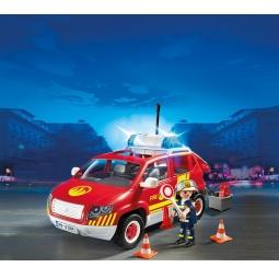фото Конструктор игровой Playmobil «Пожарная служба: Пожарная машина командира со светом и звуком»