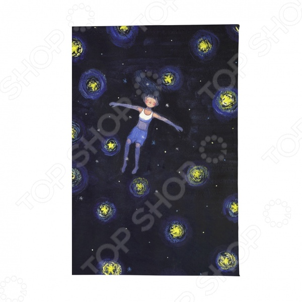 Обложка для паспорта Mitya Veselkov «Девочка ночью» обложка для паспорта mitya veselkov ежик ночью цвет синий коричневый бежевый ozam042