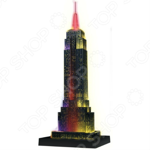 125661 �Empire State Building Night Edition� ���� 3D � ���������� Ravensburger �Empire State Building Night Edition�