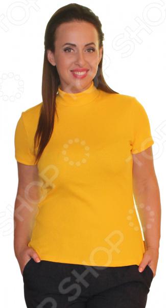 Водолазка Матекс «Анита». Цвет: желтыйВодолазки<br>Водолазка Матекс Анита прекрасная вещь для создания легкого женственного образа, которая идеально впишется в весенне-летний гардероб. Этот простой элемент отлично комбинируется практически с любой одеждой из вашего гардероба.  Удобная и практичная вещь для повседневного использования.  Хорошо сочетается с различными аксессуарами и одеждой.  Сшита из натуральной хлопковой ткани с добавлением полиэстера для прочности.<br>
