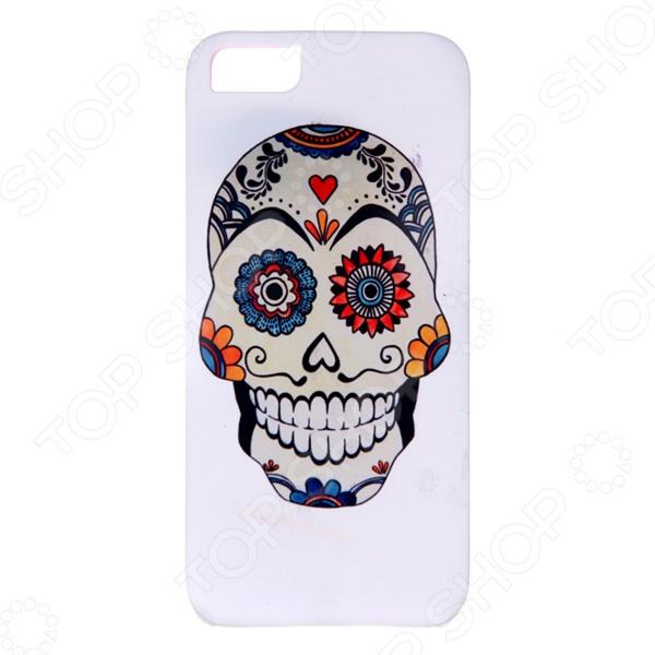 Чехол для iPhone 5 Mitya Veselkov «Мексиканский череп» череп дизайн кожа pu откидная крышка бумажника карты держатель чехол для iphone 5