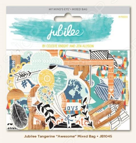 Вырубки из чипборда My Mind's Eye Jubilee Awesome JB1045