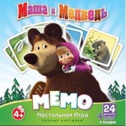 фото Игра настольная развивающая Оригами «Мемо. Маша и Медведь»