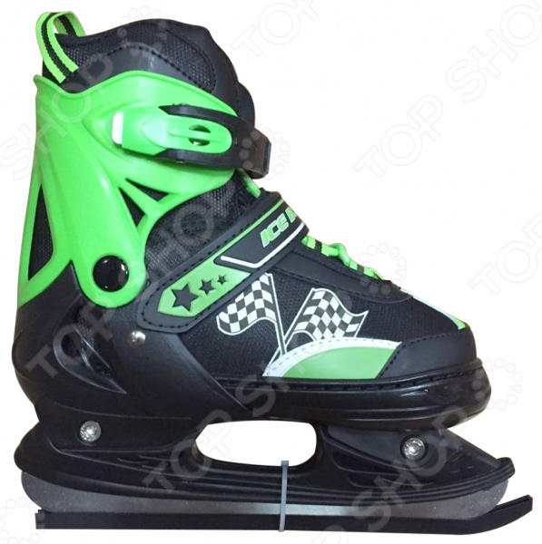 Коньки детские раздвижные ICE BLADE WinnerКонькобежный спорт<br>Коньки раздвижные ICE BLADE Winner предназначены для детей и подростков, а также для тех, кто делает первые шаги в катании на льду. Представленная модель выполнена в ярком молодежном дизайне и имеет яркую расцветку. Коньки оснащены хоккейными лезвиями и рекомендованы для использования на открытом или закрытом льду. Удобная трехуровневая система фиксации ноги, легкая смена размера, надежная защита пятки и носка сделают катание на льду невероятно комфортным и безопасным. Ботинок изготовлен из прочного и морозоустойчивого пластика, а внутренняя часть обработана теплым текстильным материалом. Лезвия же коньков выполнены из высокоуглеродистой стали с никелевым покрытием, что гарантирует прочность и долговечность. Они уже заточены, а значит вы можете сразу приступать к катанию, а не тратить время и деньги на первую заточку. Для удобства хранения и транспортировки, коньки поставляются в сумке.<br>