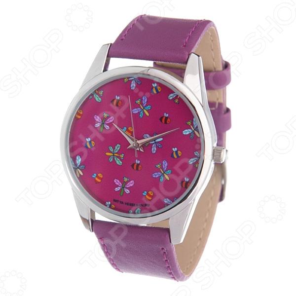 Часы наручные Mitya Veselkov «Стрекозы и пчелки» Gold браслеты для часов mitya veselkov ремешок для часов 18мм