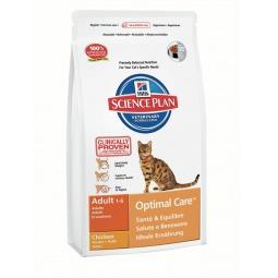 фото Корм сухой для кошек Hill's Science Plan Optimal Care с курицей. Вес упаковки: 10 кг