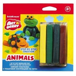 Купить Набор пластилина мягкого Erich Krause Animals Step-by-step Creation