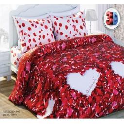 Купить Комплект постельного белья с эффектом 3D Любимый дом Лепестки роз. 2-спальный