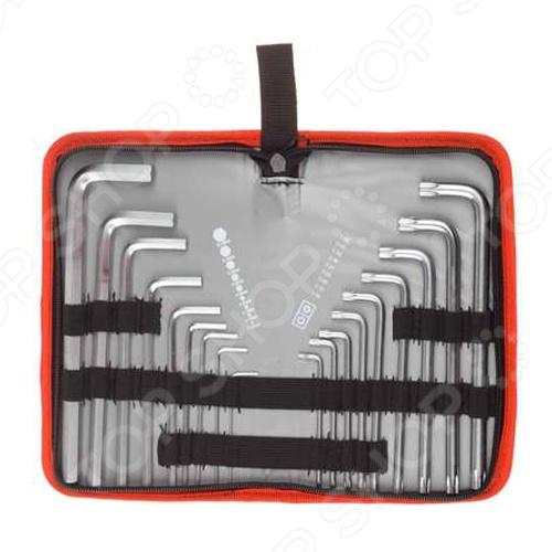 Набор ключей имбусовых длинных Зубр «Мастер» 27463-H18Шестигранные (имбусовые) ключи. Звездочки<br>Набор ключей имбусовых длинных Зубр Мастер 27463-H18 станет отличным дополнением к набору рабочих инструментов. Предназначен для проведения монтажных, демонтажных, а так же различных ремонтных работ. Набор выполнен из хромованадиевой стали с антикоррозийным покрытием, что значительно продлевает срок эксплуатации изделия. Набор имбусовых ключей незаменим как для профессиональных работ, так и для бытового применения. В комплект входит чехол, в котором удобно переносить и транспортировать инструменты. В комплекте ключи HEX 1,5-10; TORX HOLE 10-50.<br>