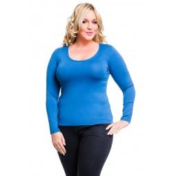 фото Кофта Mondigo XL 436. Цвет: джинсовый. Размер одежды: 48