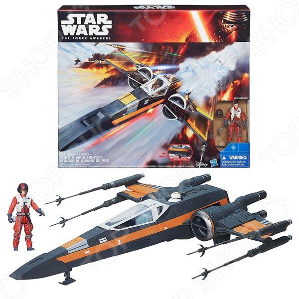 Набор игровой для мальчика Hasbro «Космический корабль Звездных войн Класс III»Игровые наборы для мальчиков<br>Набор игровой для мальчика Hasbro Космический корабль Звездных войн Класс III это копия новой, современной си еще более мощной модели Т-65 X-Wing лучшего истребителя флота повстанцев. В комплект игрового набора входят: истребитель, ракета, которой стреляет звёздный корабль, фигурка пилота X-крыла По Дамерона, высотой 9,5 см , и два дополнительных аксессуара. Игрушка великолепно подходит для сюжетно-ролевых игр и позволяет развить фантазию и мелкую моторику ручек ребенка.<br>