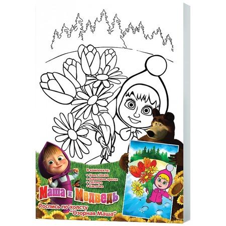Купить Набор для росписи по холсту Росмэн «Озорная Маша»