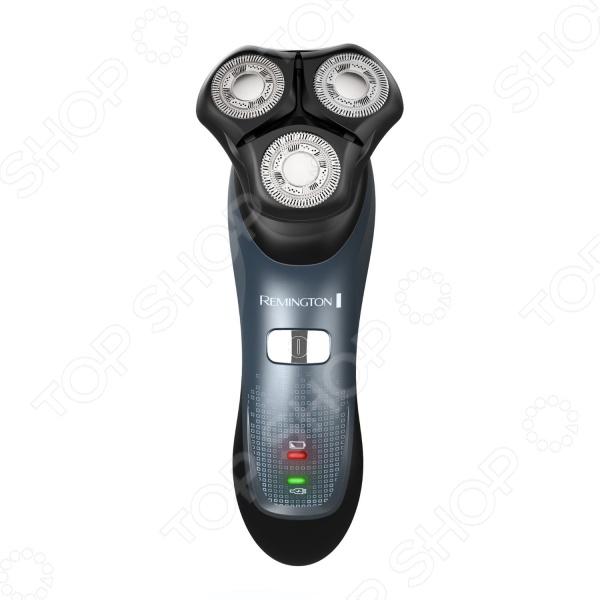 Электробритва Remington XR 1330Электробритвы<br>Электробритва Remington XR 1330 - компактная и функциональная бритва, которая обеспечивает максимально комфортное и чистое бритье. Плавающие головки и подвижное основание бритвы обеспечивает легкий поворот на 360 . Бреющая часть плотно прилегает к коже и легко адаптируется под контуры лица, обеспечивая точное бритье даже в самых проблемных зонах. Благодаря литиевому аккумулятору электробритва может работать до 50 минут в беспроводном режиме. Электробритва подходит для сухого или влажного бритья, поэтому её можно использовать в душевой кабинке. Компактная и удобная бритва с функцией быстрой подзарядки станет идеальным решением для активных мужчин, которые ценят время, качество и практичность.<br>