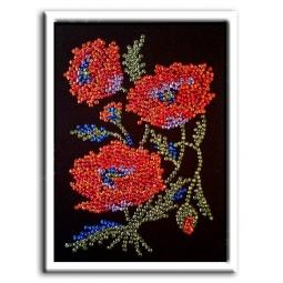 Купить Мозаика из пайеток Волшебная мастерская «Маки»