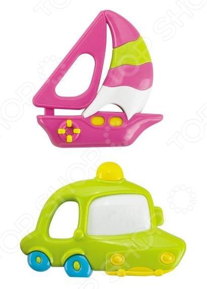 Набор игрушек-погремушек Жирафики «Кораблик и машинка» разноцветная мозаика кораблик 2604