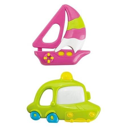 Купить Набор игрушек-погремушек Жирафики «Кораблик и машинка»