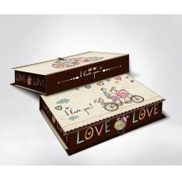 фото Шкатулка-коробка подарочная Феникс-Презент «Любовь». Размер: M (20х14 см). Высота: 6 см