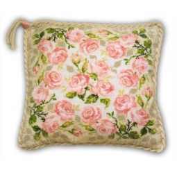 фото Набор для вышивания крестиком Сотвори Сама «Подушка. Розочки»