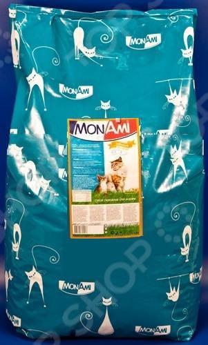 Корм сухой для кошек Mon Ami «Мясное ассорти»Сухой корм<br>Корм сухой для кошек Mon Ami Мясное ассорти сбалансированный рацион для ежедневного питания вашего любимца. Высокая энергетическая ценность удовлетворит потребности животного, при этом у вас не возникнет необходимости скармливать вашему питомцу большие порции. Оцените преимущества сухого корма Mon Ami:  Изготовлен из отборных ингредиентов, богатых питательными веществами.  Оптимальный баланс микроэлементов и витаминов для здоровья и хорошего настроения вашего питомца.  Таурин и антиоксидант поддерживают молодость всех органов и систем в организме. Корм также предназначен для профилактики мочекаменной болезни. Если вы решили перевести своего питомца на новый рацион, то делайте это постепенно в течение 7 дней. Просто кормите кошку смесью этого корма с предыдущим, со временем уменьшая количество последнего. Ваш верный друг оценит новое лакомство, ведь корм отличается превосходным вкусом. Внимание! Не забывайте о свежей воде, которая должна быть постоянно в миске вашего питомца.<br>