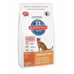 фото Корм сухой для кошек Hill's Science Plan Optimal Care с ягненком. Вес упаковки: 10 кг