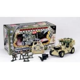Купить Автомобиль военный радиоуправляемый с набором солдат Tongde В72195