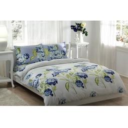 фото Комплект постельного белья TAC Rebecca. 2-спальный. Цвет: голубой