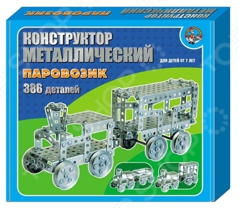 Конструктор металлический Десятое королевство «Паровозик»