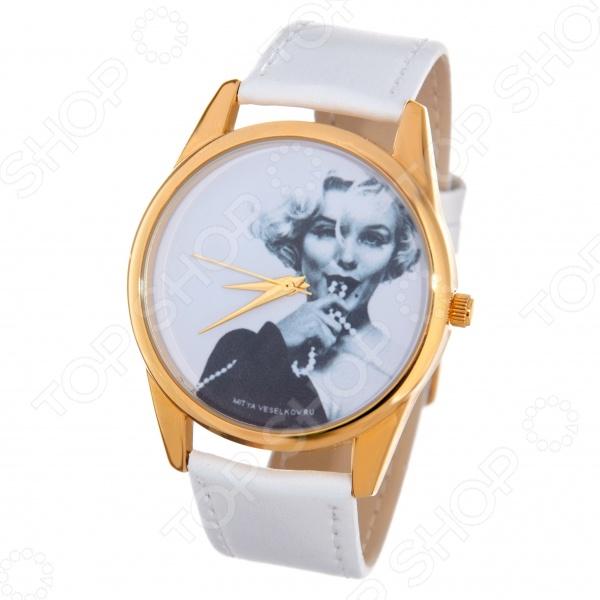 Часы наручные Mitya Veselkov «Монро с бусами» Shine часы наручные mitya veselkov часы mitya veselkov камасутра силуэт на белом арт shine 20