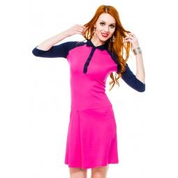 фото Платье Mondigo 8668. Цвет: ярко-розовый. Размер одежды: 42