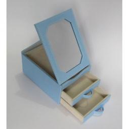 фото Шкатулка для украшений Феникс-Презент. Размер: 15,5х11,5 см. Цвет: голубой