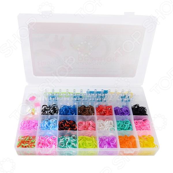 Набор резиночек для плетения Color Kit RZ2 - замечательный набор, который станет оригинальным подарком для маленьких рукодельниц. Девочки любят различные браслетики, фенички и прочие украшения. Но что может быть лучше, чем сделать подобные украшения самостоятельно, своими руками. С помощью такого набора можно плести самые замысловатые браслеты и фенечки, а так же делать и другие различные плетения из резиночек. В дальнейшем такие изделия можно носить либо самостоятельно, либо преподнести в качестве презента своим подругам. Подобные занятия развивают фантазию, воображение, усидчивость и мелкую моторику, а так же формируют цветовосприятие. В комплекте 2000 резинок.