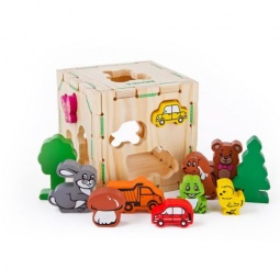 Купить Сортер деревянный Томик «Веселые фигурки»