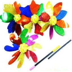 Купить Игрушка-вертушка Shantou Gepai голографическая «Цветок». В ассортименте