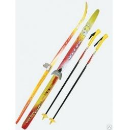 Купить Комплект лыжный с палками SORSU Snowstar. Система крепления: 75 мм