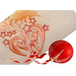 фото Полотенце подарочное с вышивкой TAC Christmas toy. Цвет: персиковый