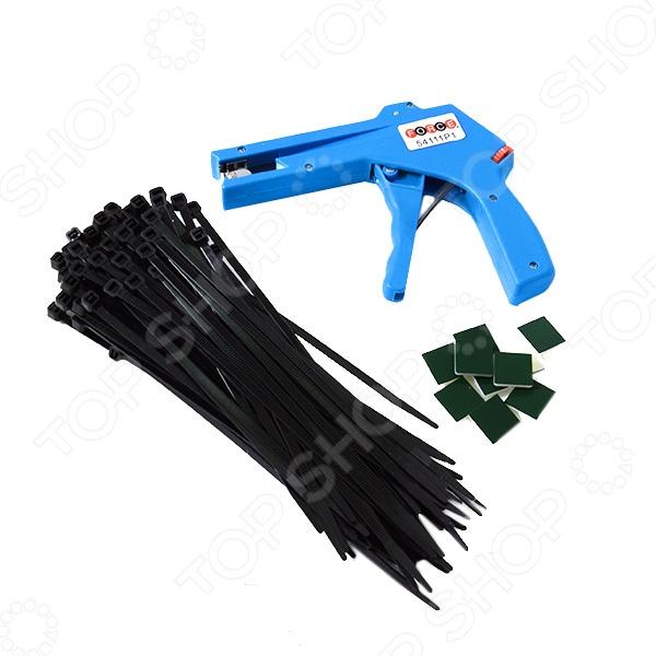 Набор хомутов пластиковых с приспособлением для затяжки Force F-54111 набор инструмента force f 41421