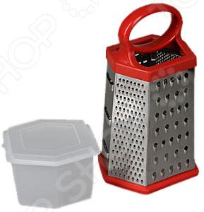 Терка с контейнером Rosenberg 7942Терки. Шинковки<br>Терка с контейнером Rosenberg 7942 станет отличным дополнением к набору аксессуаров и принадлежностей для кухни. Модель многофункциональна, удобна и практична в использовании, легко чистится и моется. Терка имеет шестигранную форму, выполнена из высококачественных материалов и снабжена снабжена сверхострыми зубцами, обеспечивающими крайне тонкое натирание продуктов. Контейнер в комплекте. Торговая марка Rosenberg это синоним первоклассного качества и стильного современного дизайна. Компания занимается производством и продажей кухонных инструментов, аксессуаров, посуды и т.д. Функциональность, практичность и инновационные решения вот основные принципы торгового бренда Rosenberg.<br>