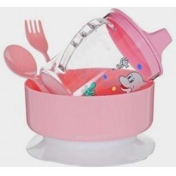 Купить Набор посуды СКАЗКА: тарелка, ложка, кружка 250 мл, вилка