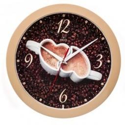 фото Часы настенные Вега П 1-14/7-225 «Кофе для двоих»