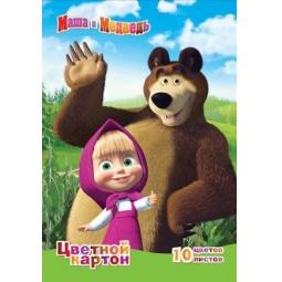 фото Набор картона цветного мелованного Росмэн «Маша и Медведь» 1
