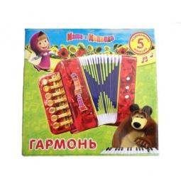 Купить Гармонь игрушечная Играем Вместе Маша и Медведь. В ассортименте