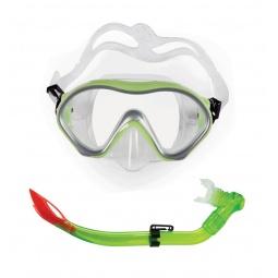 фото Набор из маски и трубки Submarine Omar11. Цвет: зеленый