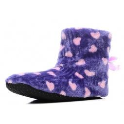 Купить Тапочки домашние высокие Burlesco H26. Цвет: синий, фиолетовый