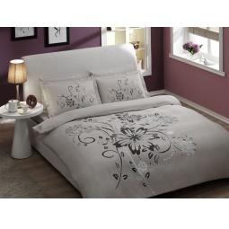 фото Комплект постельного белья TAC Perry. 1,5-спальный. Цвет: серый