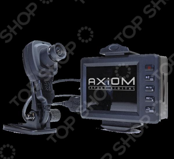Видеорегистратор AXIOM 1100 CAR VISIONВидеорегистраторы<br>Видеорегистратор AXIOM 1100 CAR VISION устройство, которое сделает процесс езды максимально безопасным, удобным и надежным. Регистратор обеспечивает качественную съемку ситуации, происходящей на дороге, а также мониторинг маршрута. Компактное устройство умело совмещает в себе стильный дизайн, мощный функционал и интуитивно понятный интерфейс. Питание регистратора осуществляется как от аккумулятора, так и от бортовой сети автомобиля. Внутри устройства расположен преобразователь напряжения с 12 В на 5 В , поэтому регистратор можно подключить напрямую к сети электропитания без использования дополнительных элементов. В процессе записи видео основной LED-индикатор начинает мерцать красным светом. В дневное время с 7:00 до 19:00, этот диапазон выставлен по умолчанию свечение достаточно яркое, тогда как в ночное время яркость снижается, чтобы не отвлекать водителя во время езды. Широкоугольная камера, мощные динамики и микрофон обеспечивают качественную запись видео даже в условиях плохой освещенности или в темное время суток. Наличие двух карт памяти дает возможность не только увеличить ресурс устройства, но и копировать информацию с одного носителя на другой. Циклическая запись осуществляется по очереди сначала на внешнюю, потом внутреннюю карту памяти. Когда память будет ограничена, запись будет осуществляться по второму кругу поверх старых файлов. Необходимо отметить, что количество циклов перезаписи у карт ограничено, поэтому рекомендуется использовать для основной записи внешнюю SD-карту, так как ее легко поменять.<br>
