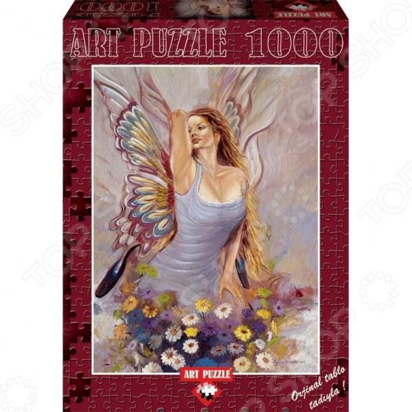 Пазл 1000 элементов Art Puzzle «Ангел»Пазлы (501–1000 элементов)<br>Игра Пазл была изобретена более двухсот лет назад в Англии и с тех пор не теряет своей актуальности, продолжая с каждым годом набирать всю большую и большую популярность у поклонников развивающих игр и головоломок. Объясняется все тем, что собирание пазлов это не просто интересное и увлекательное времяпрепровождение, а возможность самостоятельно создать чудесную картину. Пазл 1000 элементов Art Puzzle Ангел станет прекрасным подарком как для ребенка, так и для взрослого. По утверждениям психологов, собирание головоломки способствует развитию цветового восприятия, мелкой моторики рук, воображения и когнитивного мышления; делает вас более усидчивым, внимательным и организованным. После же, сложенную картину можно склеить с помощью специального клея для пазлов и украсить ею интерьер комнаты. Пазлы изготовлены из плотных материалов; отличаются яркой цветовой гаммой, высоким качеством полиграфии и точной нарезкой деталей, обеспечивающей их хорошую стыковку друг с другом.<br>