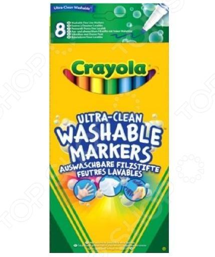 Набор фломастеров смываемых Crayola 58-8330 «Супер чисто» crayola гигантский набор фломастеров crayola