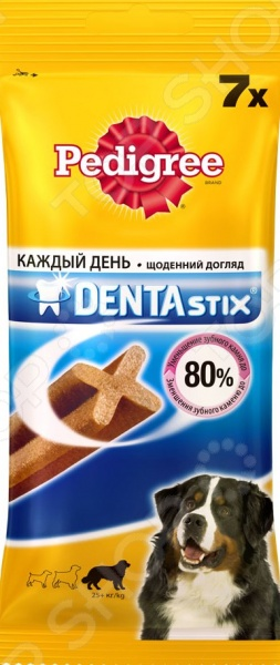 Пластинки для снятия зубного камня у собак крупных пород Pedigree Denta Stix Daily Big лакомство для щенков pedigree denta tubos junior 3 шт
